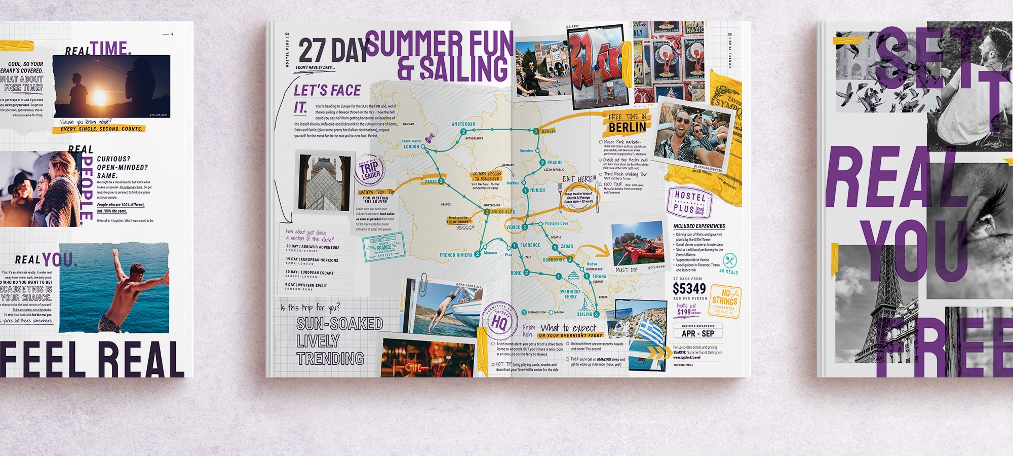 graphic design brochure for Topdeck Travel
