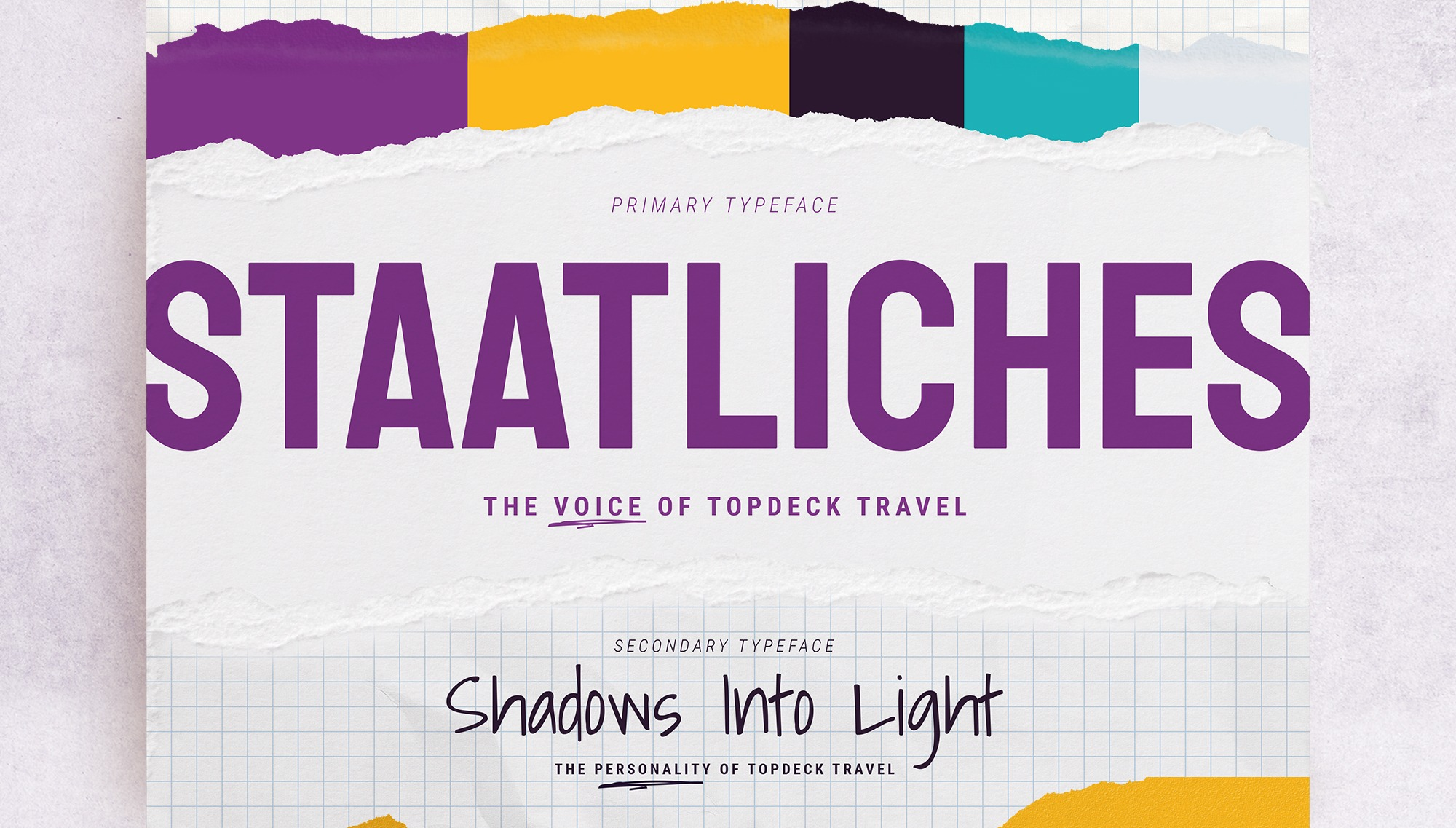 New branding colours and typography for Topdeck Travel