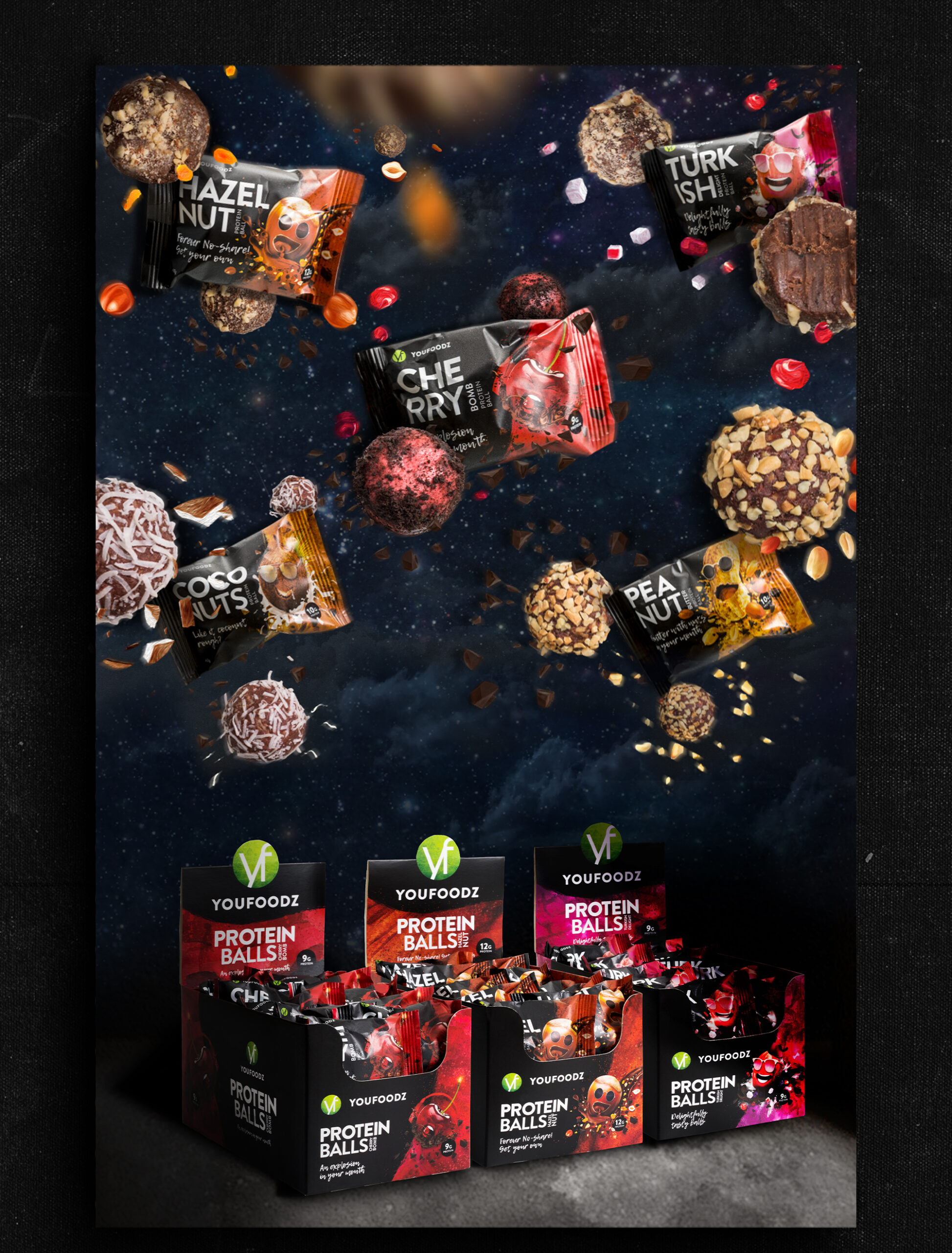 Freelance Design Youfood protein ball packaging design
